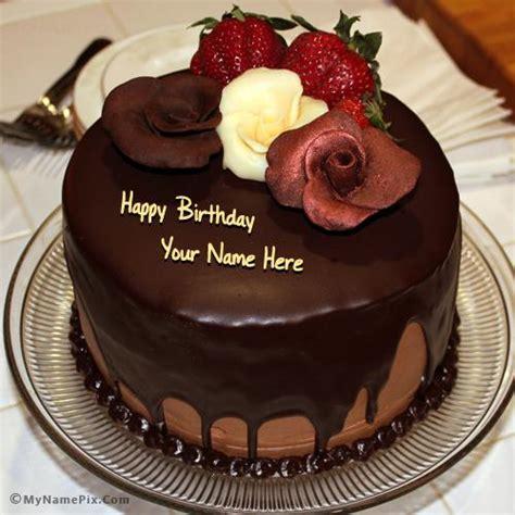 chocolate birthday cake images chocolate birthday cake with with name
