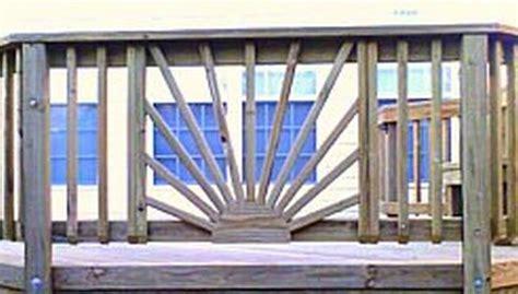 sunburst railing vertical  deck railing mountain