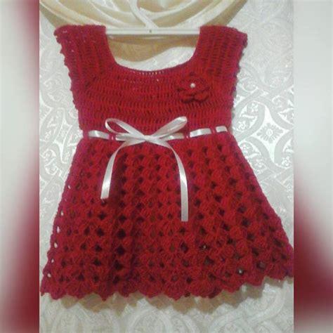 vestido en crochet para recin nacida vestido para recien nacida tejido a crochet