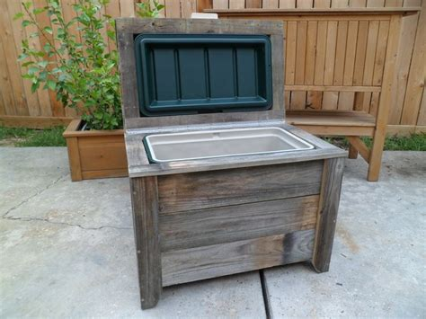 bench cooler 48qt reclaimed fencing cooler bench outdoor cooler hutch