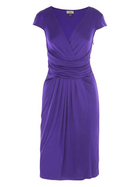 cross with purple drape issa cross front drape dress in purple lyst