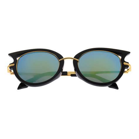 Cat Eye Shades retro womens mens sunglasses metal frame golden leg cat