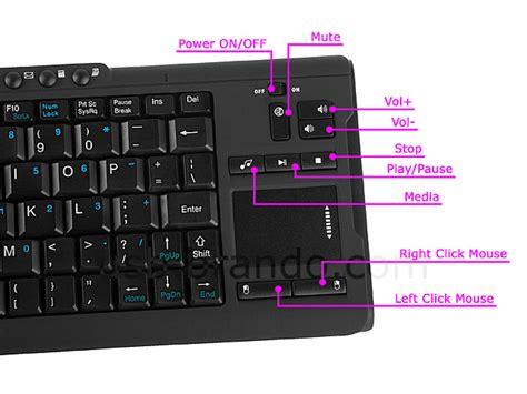 usb ghz wireless multimedia mini keyboard  touchpad