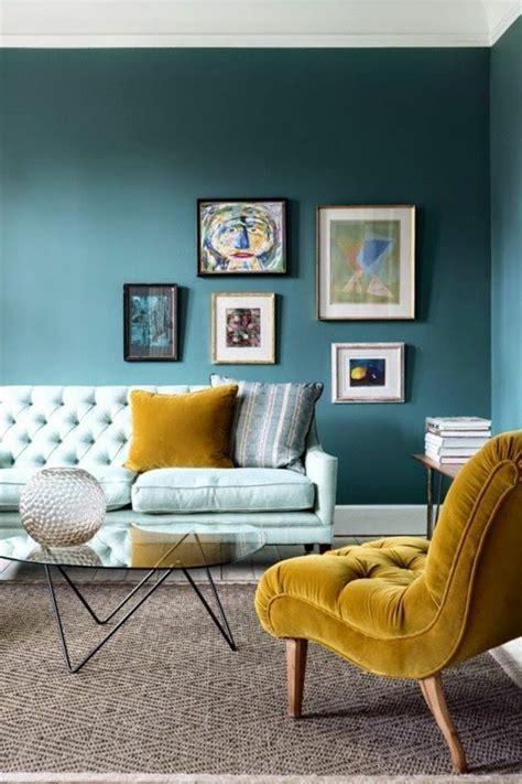 Salon Gris Bleu Jaune by 1001 Id 233 Es De D 233 Cors Avec Couleur Moutarde Des Conseils