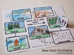 3 easy bear hunt activities with printables pink