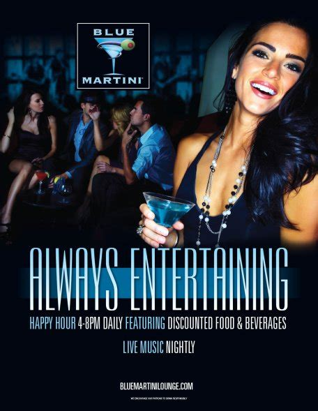blue martini bottle clubs upscale bars with live