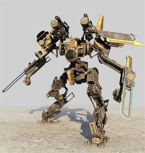 Mecha Model 3d robot mech droid model