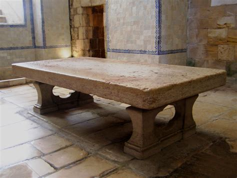 Antique Dining Room Sets file stone table alcoba 231 a monastery jpg wikimedia commons