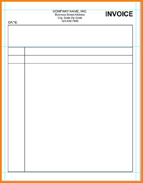 Printable Blank Invoice