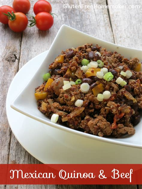 gluten free slow cooker with hamburger mexican quinoa and beef cooker gluten free homemaker