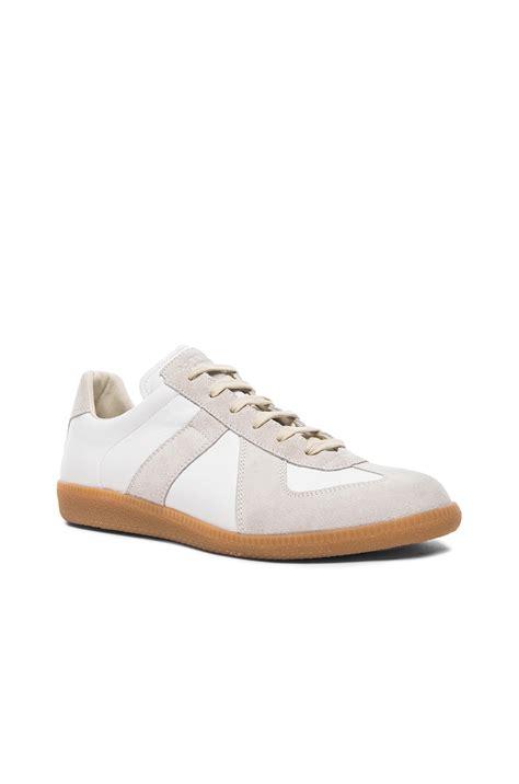 margiela s sneakers maison margiela s replica low top sneaker in white for