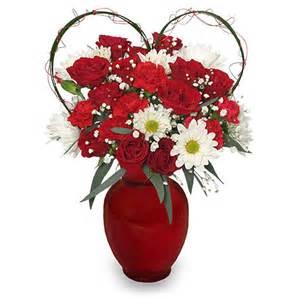 Decorative Urn Because I Love You Bouquet Romantic Flower Arrangement