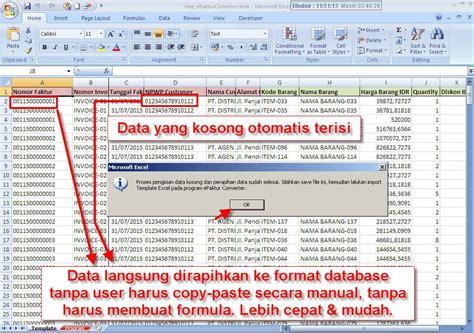 format csv ke excel etax 20020 efaktur converter