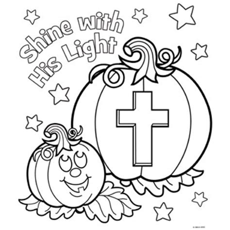 religious pumpkin coloring pages shine his light free n fun halloween from oriental trading