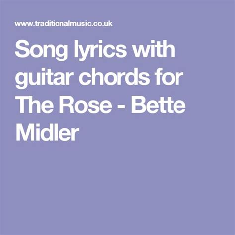 bette midler lyrics the world s catalog of ideas