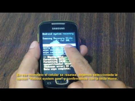 reset hard samsung s5570 hard reset celular samsung galaxy mini gt s5570 youtube