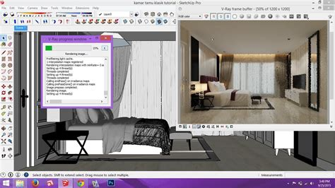 tutorial cesped vray sketchup making of interior scene vray sketchup lovely