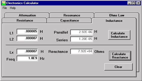 inductance calculator parallel electronic calculator inductance