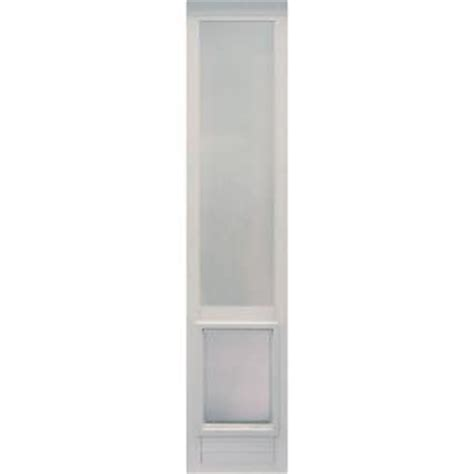 Ideal Patio Pet Door Ideal Pet 10 5 In X 15 In Large White Vinyl Pet Patio Door Fits 76 75 In To 78 5 In