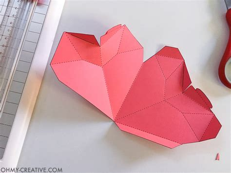 How To Make 3d On Paper - how to make a 3d paper box oh my creative