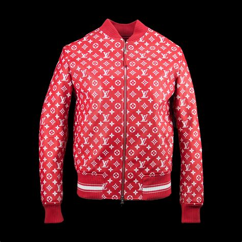 Supreme Jacket supreme x louis vuitton leather blouson bomber monogram