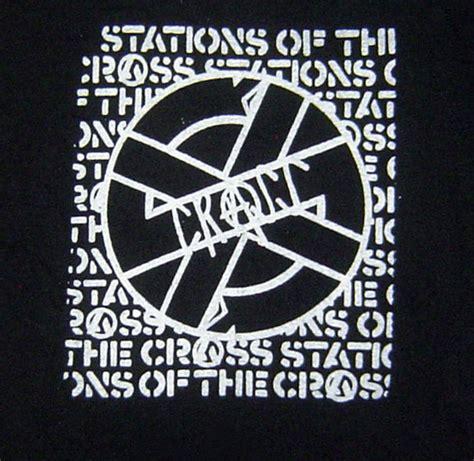 Delwyn Print Static X Logo Rock Band Size S To L s2xl crass rock band logo vintage styled retro by punkedelik