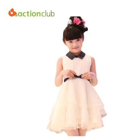 Dress Kid Bungashan 3 dress children clothing fashion lace dress for new 2016 baby dress