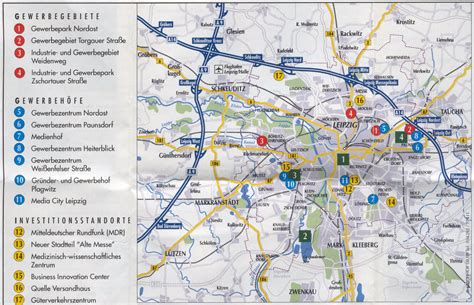area map of guide to bach tour leipzig maps