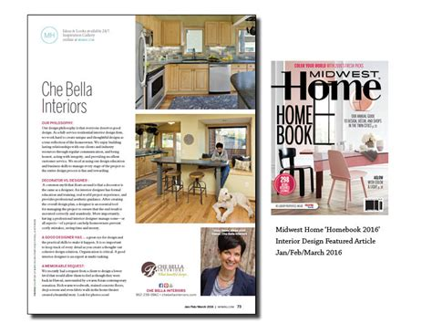 midwest home magazine design week interior design living che bella interiors mn