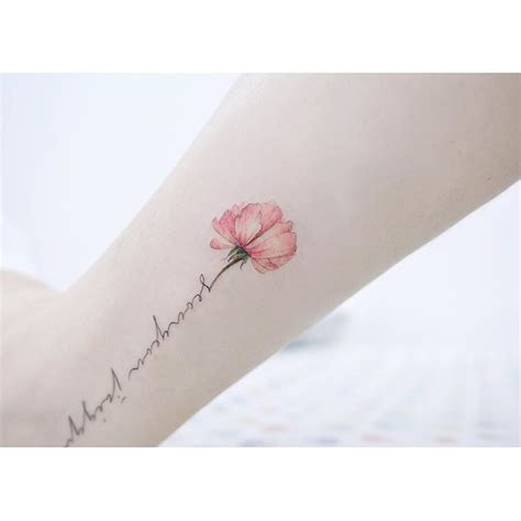 rose stem tattoos grandmas handwriting as stem the