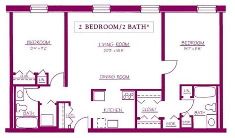 two bedroom two bath house plans two bedroom 2 bathroom house plans archives home