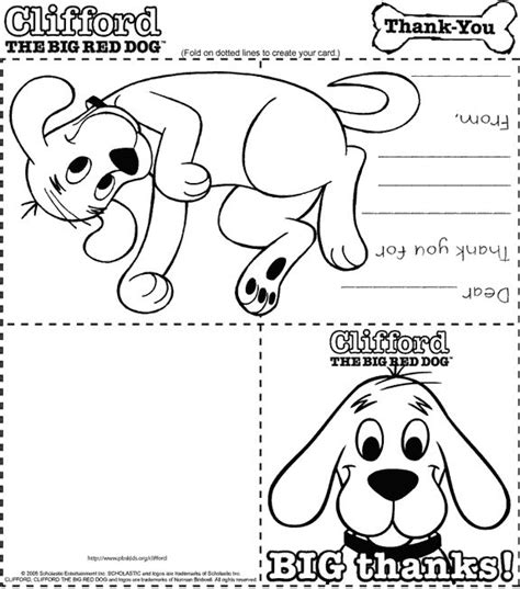 printable thank you cards dogs 1000 images about clifford on pinterest red dog norman