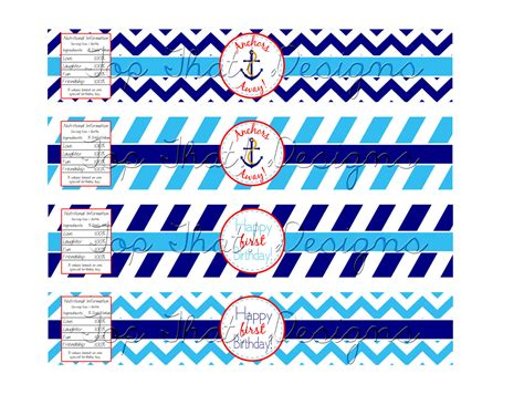 printable nautical labels nautical water bottle labels printable