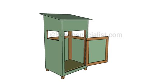 How To Build A Deer Blind On A Trailer pin deer stand building plans house with photos on