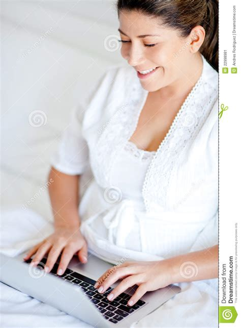 working in bed working in bed stock image image 22998981