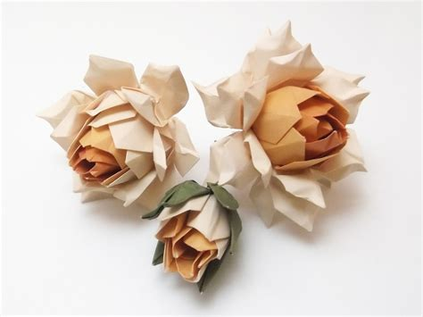 Folded Paper Roses - 42 beautiful origami flowers that look almost like the