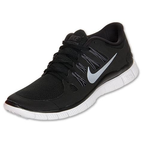 black nike running shoes nike free 5 0 womens size running shoes black white silver
