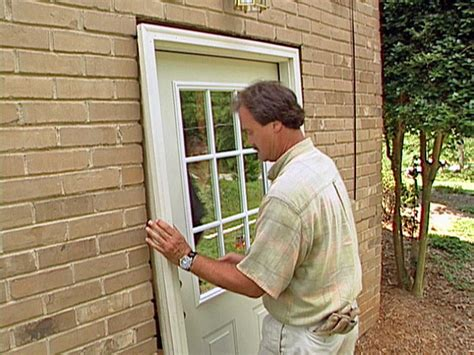 How To Hang An Exterior Door How To Install A Pre Hung Exterior Door How Tos Diy