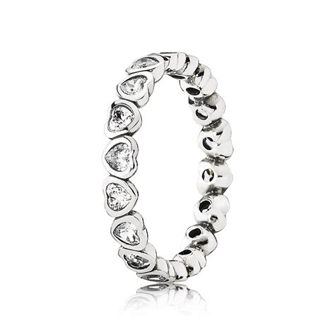pandora rings pandora sparkling stacking ring 190897cz pandora