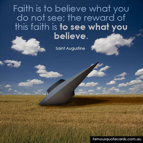 this is not fame a from what i re memoir books quote cards quote by augustine faith is