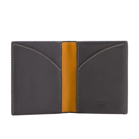 Origami Leather Wallet - a slim leather wallet origami grey wallets