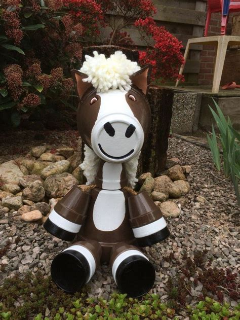 How To Decorate A Display Cabinet Decorate Your Garden By Making This Clay Flower Pot Horse