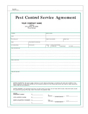 pest forms templates pest quotation format fill printable