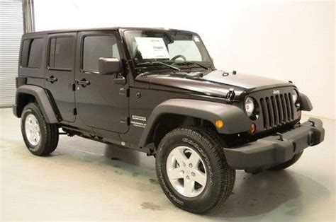 Jeep Wrangler Power Top Buy New New 2013 Jeep Wrangler Unlimited Sport 4x4