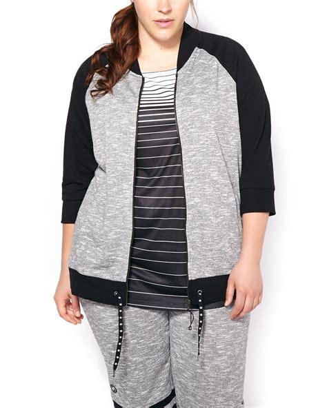plus size knit jacket activezone weekend collection plus size 3 4 sleeve knit
