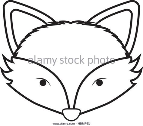 coloring page of a fox face fox face outline coloring pages