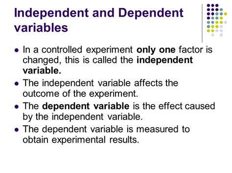 exle of dependent variable ln 1 scientific methods ppt