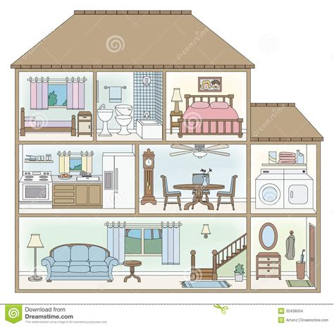 section style house cross section stock vector image of table section