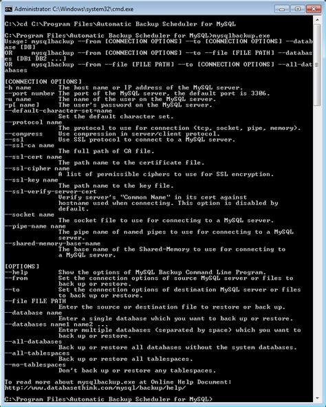 xp mysql command line tutorial back up mysql database with command line