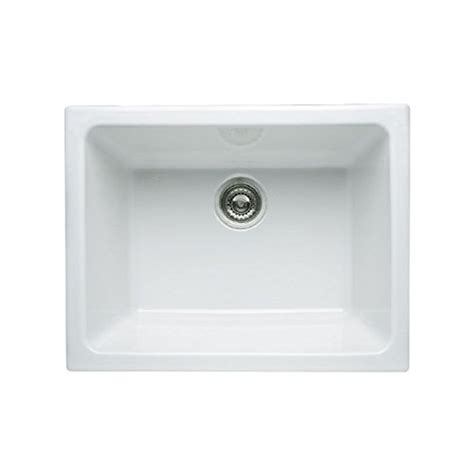 allia fireclay single bowl undermount kitchen rohl 6347 00 23 15 16 inch by 18 1 2 inch by 10 13 16 inch